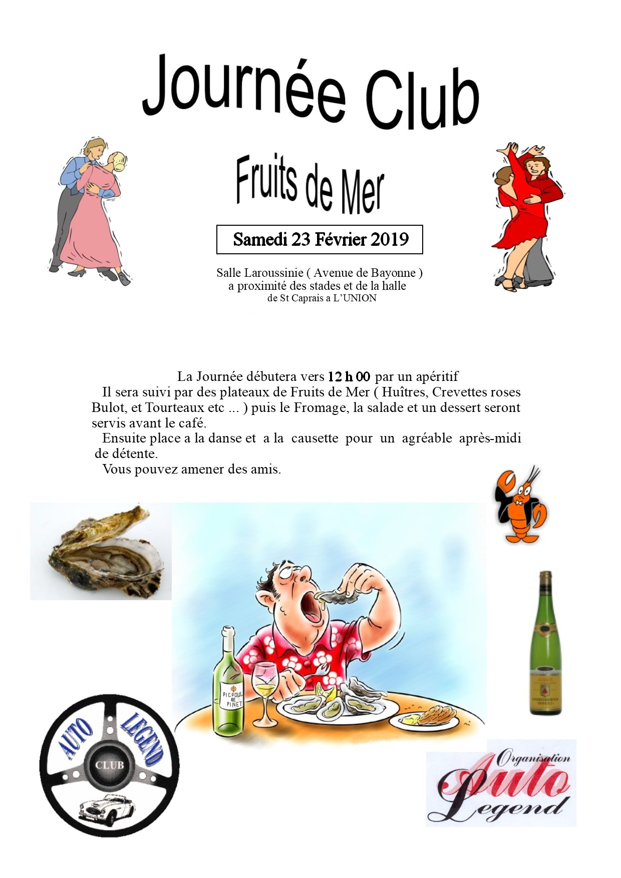 Club a l fruits de mer 2019