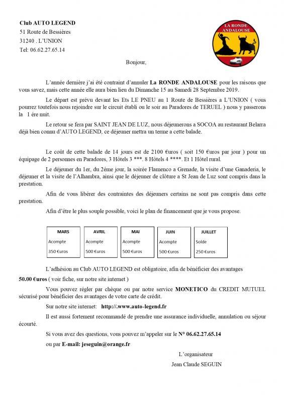 Presentation ronde andalouse 2019 1